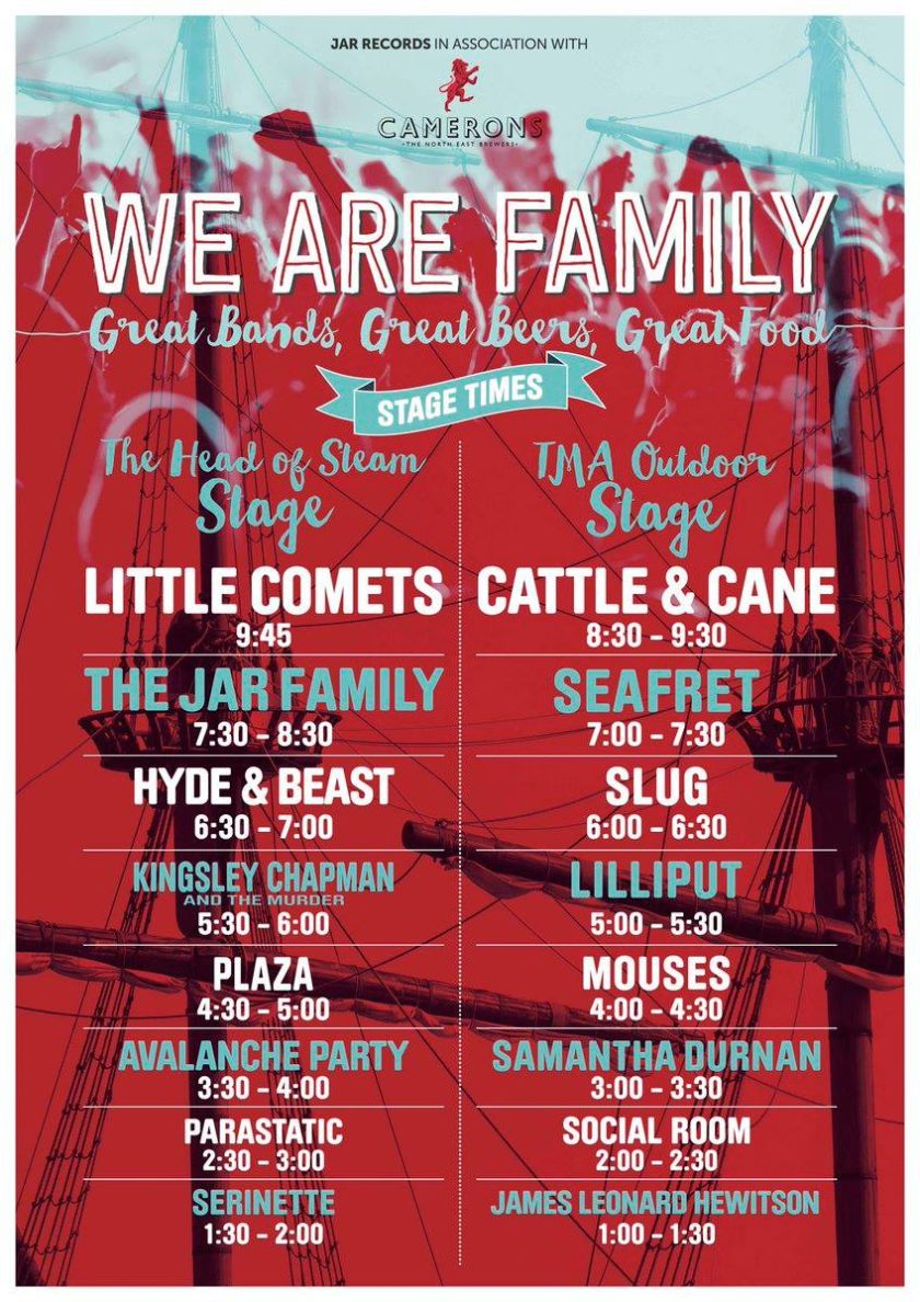 We Are Family Festival 2016 - Set times